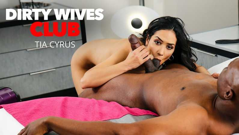 DirtyWivesClub Tia Cyrus Has Permission From Husband To Fuck Whomever When She's Away On Business