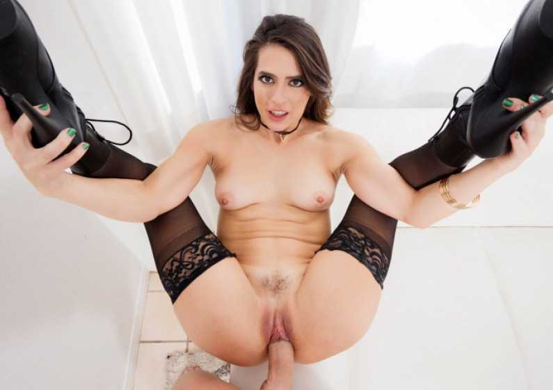 Spizoo Abbie Maley Brunette Gets Her Pussy Punished In Hot POV